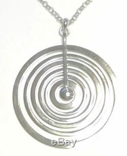 Tapio Wirkkala Finland Sterling Silver Bigger Pendant w Chain Silver Moon NEW