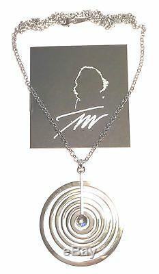 Tapio Wirkkala Finland Sterling Silver Pendant w Chain Silver Moon Bigger Size