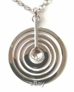 Tapio Wirkkala Finland Sterling Silver Pendant with Chain Hopeakuu Silver Moon