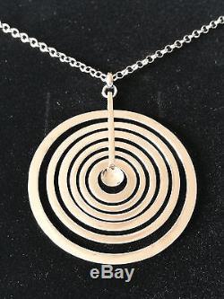 Tapio Wirkkala Silver Moon pendant necklace silver Kultakeskus Finland NEW