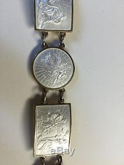 Thorvaldsen Sterling Silver Enamel Meka Denmark Bracelet Angels Classical Scenes