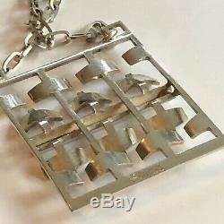 Tone Vigeland Norway Designs Necklace Pendant Sterling Silver Norwegian