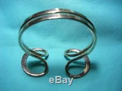 Tone Vigeland Norway Modernist Mid Century Sterling Silver Bangle Bracelet