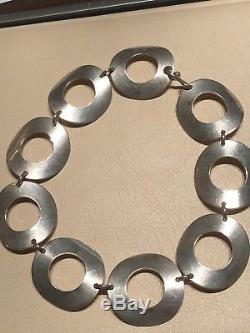 Tone Vigeland Punch Sterling Silver necklace Norway Norwegian RARE