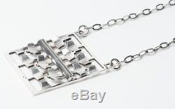 Tone Vigeland Vintage Norwegian Sterling Silver Modernist Necklace