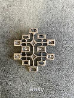 UNN Tangerud David Andersen Norway 1960s Sterling Modernist Pin Brooch Pendant