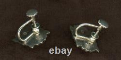 VINTAGE GEORG JENSEN 17 STERLING SILVER NECKLACE #18b with matching Earring's