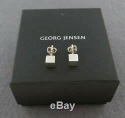 VINTAGE GEORG JENSEN STERLING SILVER 925s EARRINGS DENMARK IN BOX