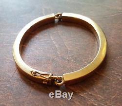 VINTAGE Modernist Hans Hansen Denmark 585 14k Gold Danish Modern Bracelet Bangle