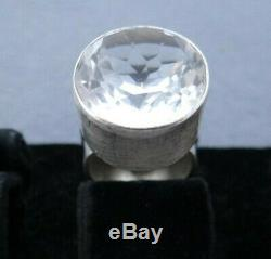 VINTAGE N. E. FROM STERLING SILVER 925s WITH ROCK CRYSTAL RING DENMARK