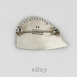 VINTAGE POUL WARMIND DENMARK Porcupine Hedgehog Sterling Silver PIN mid-century