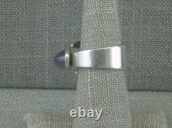 VTG David Andersen Norway Amethyst Sterling Silver Bypass Ring Adjustable Mod
