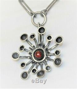 VTG Lysgårds Designs Denmark RETRO Atomic STARBURST Necklace/Ring RARE 1960s SET