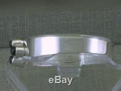 VTG Sterling Silver Helga Narsakka Spectrolite Latch Bracelet Kaunis Koru 1970
