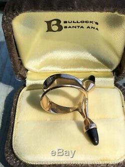 Very Rare Vintage 585 14K Spectrolite Ring ELIS KAUPPI Finland Modernist