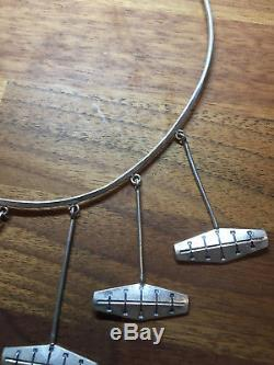 Very special Neck Ring Rolf Grude Sterling Silver Norway Norwegian