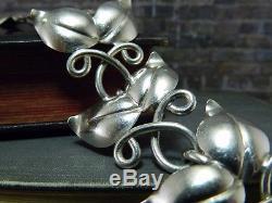 Vintage 1945 Modernist Haglund Studio Handarbete Sweden Sterling Silver Bracelet
