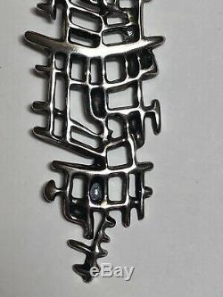 Vintage 1960s Uni David Andersen Unn Tangerud Sterling 925S Modernist Pendant
