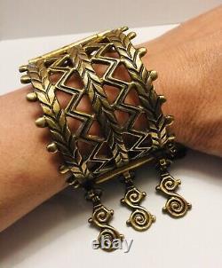 Vintage 1970s KALEVALA KORU Bronze Cuff Bangle Bracelet KK Finland