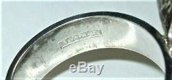 Vintage 925 Sterling Silver Kupittaan Kulta Carnelian Modernist Textured Ring