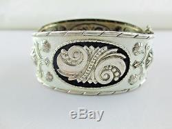Vintage Andresen & Scheinpflug Enamel Sterling Silver Bracelet NORWAY RARE 195C
