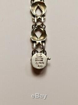 Vintage Art Nouveau Georg Jensen Sterling Silver 925 Bracelet #46 1910-27 7-3/8