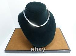 Vintage Authentic Georg Jensen Hans Hansen Sterling Silver Choker Necklace 185