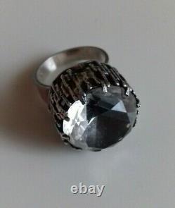 Vintage Bengt Hallberg U9 830 S Silver With Rock Crystal Ring Sweden