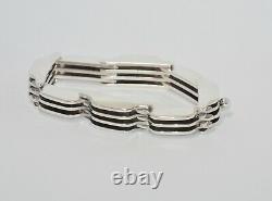 Vintage Bent Knudsen DENMARK Sterling Silver Bar/Link Bracelet MODERNIST 925