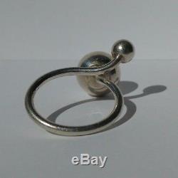 Vintage Carl Ove Frydensberg Denmark Modernist Sterling Silver Size 6 Ring