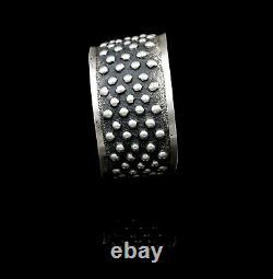 Vintage Danish Jorn Arne Backhausen 830S Sterling Silver Modernist Cuff Bracelet