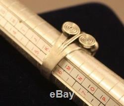 Vintage Danish Julius A L Klagenborg Sterling Modernist Ring 1944-73 Signed Rare