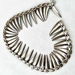 Vintage Danish Modern Atelier Borgila Sterling Enamel Choker Necklace Earrings S