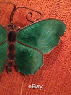 Vintage Danish Modern David Andersen Sterling Silver Butterfly Pin / Brooch