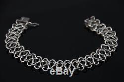 Vintage Danish Modernist Design Christian Veilskov Sterling Silver Bracelet