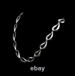 Vintage Danish SCROUPLES Sterling Silver Necklace Large Link Necklace Modern