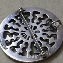 Vintage David Andersen Modernist Sterling Silver Brooch/Pin/Pendant Signed Rare