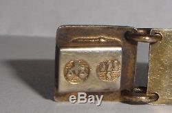 Vintage David Andersen Norway 925s sterling silver enamel guilloche bracelet