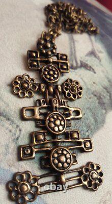Vintage David Andersen Norway Bronze pendant UNI D-A, Unn Tangerud