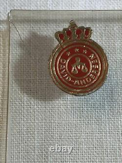 Vintage David Andersen Norway Sterling Silver 6 Spoon Set Demitasse Gilt Enamel