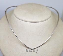 Vintage David Andersen Norway Sterling Silver Modernist Collar Cuff Necklace