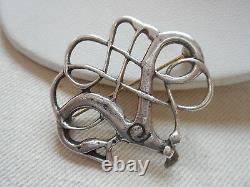 Vintage David Andersen Norway Sterling Silver Viking Period Copy Brooch RE6510