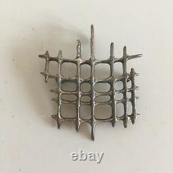Vintage David Andersen Norway Sterling Uni Modernist Necklace Pendant Brooch