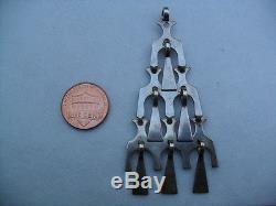 Vintage David Andersen Norway sterling silver pendant 75mm tall 12.5gr