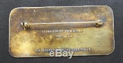 Vintage David Andersen Rock Carving From Norway Sterling Silver Enamel Pin Brooc