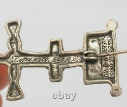 Vintage David Andersen Saga series Viking gods replica 500 AD pin brooch Norway