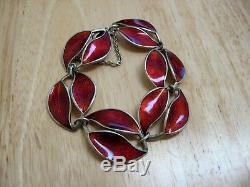 Vintage David Andersen Sterling Silver Guilloche Enamel Bracelet Willy Winnaes