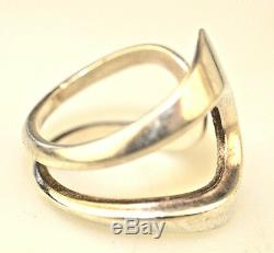 Vintage David Andersen Sterling Silver Mid-century Modernist Ring Denmark Size 7