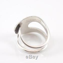 Vintage David Andersen Sterling Silver Modernist Geometric Ring Size 7.5 Adj