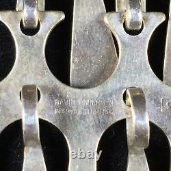 Vintage David Andersen Sterling Silver Pendant Hinged Panel Dangle Modernist 925